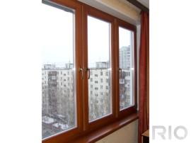 Деревянные окна на балкон