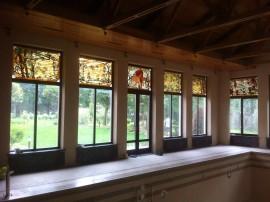 Деревянные панорамные окна